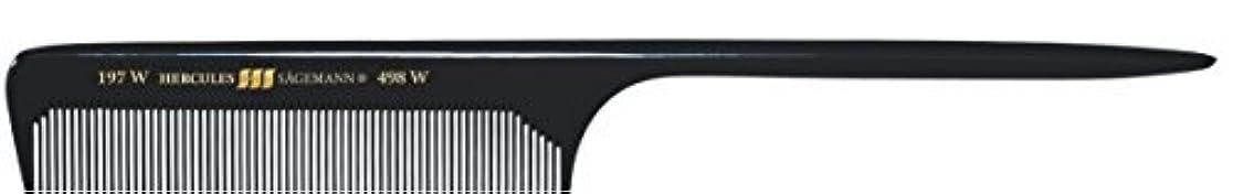 最少グレードアンビエントHercules S?gemann Long Rounded Tail Hair Comb with wide teeth 8?