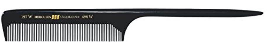 狂人戻る姿を消すHercules S?gemann Long Rounded Tail Hair Comb with wide teeth 8?