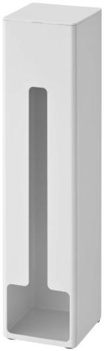 山崎実業 マグネット 自立式 ポリ袋ストッカー タワー ホワイト 約W8XD8XH32.5cm tower 7839