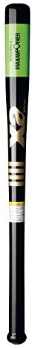 XANAX(ザナックス) 竹トレーニングバット 超極太グリップ BTB-1006 ブラック×ライムグリーン 84cm
