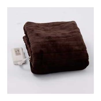 山善 ふわふわもこもこ 電気敷毛布(140×80cm) 表面フランネル・裏面プードルタッチ仕上げ YMS-F33P(T)