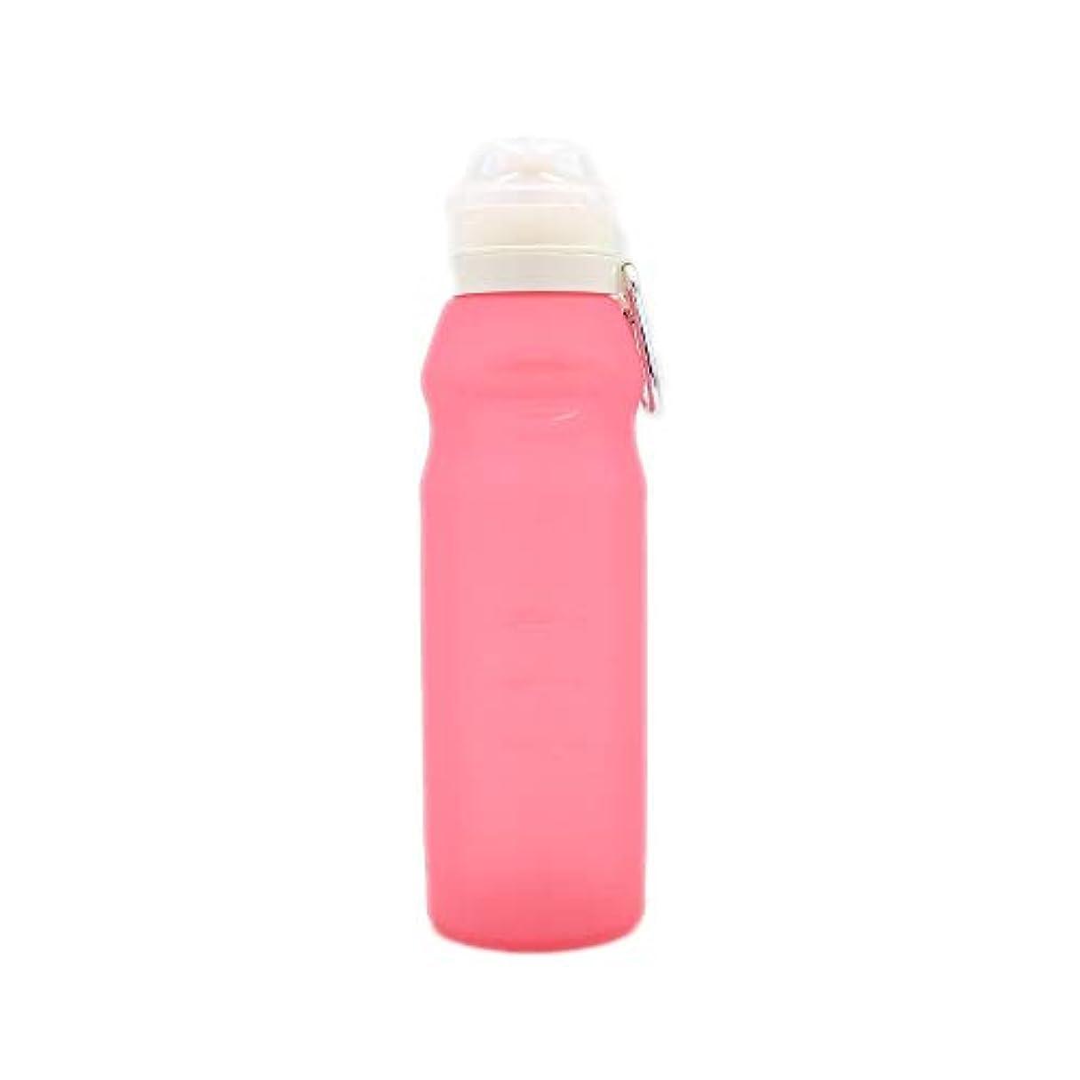 旋律的軍隊契約した折りたたみスポーツボトル600ミリリットルスポーツウォーターボトルプラスチック飲料ボトル屋外キャンププロテインパウダーシェーカーボトル