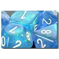 Chessex Dice: Polyhedral 7-Die Borealis Dice Set - Sky Blue w/white by Chessex [並行輸入品]