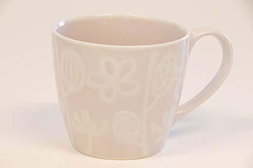 奥川陶器 マグカップ - 径87×77mm 奥川陶器 botanicalI フルール マグカップ桃 389771