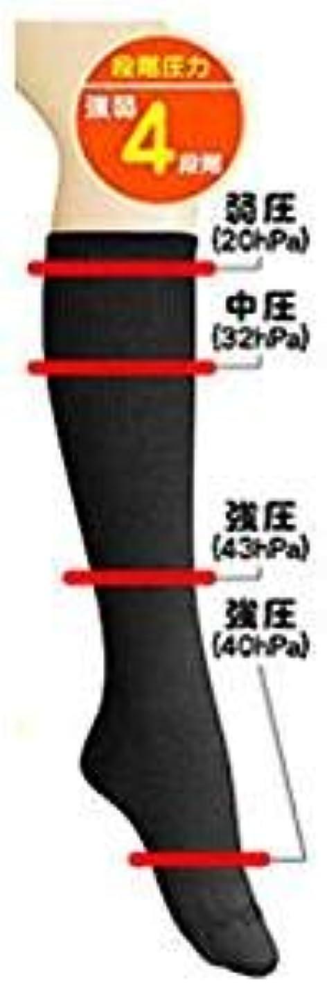 不安定エレクトロニック印をつける超美圧ソックス ブラック 【2足組】