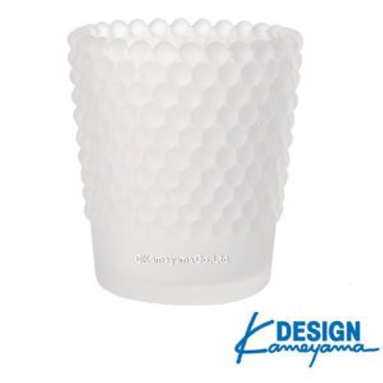 ベッドを作る本質的に突進カメヤマキャンドル ホビネルグラス フロストホワイト