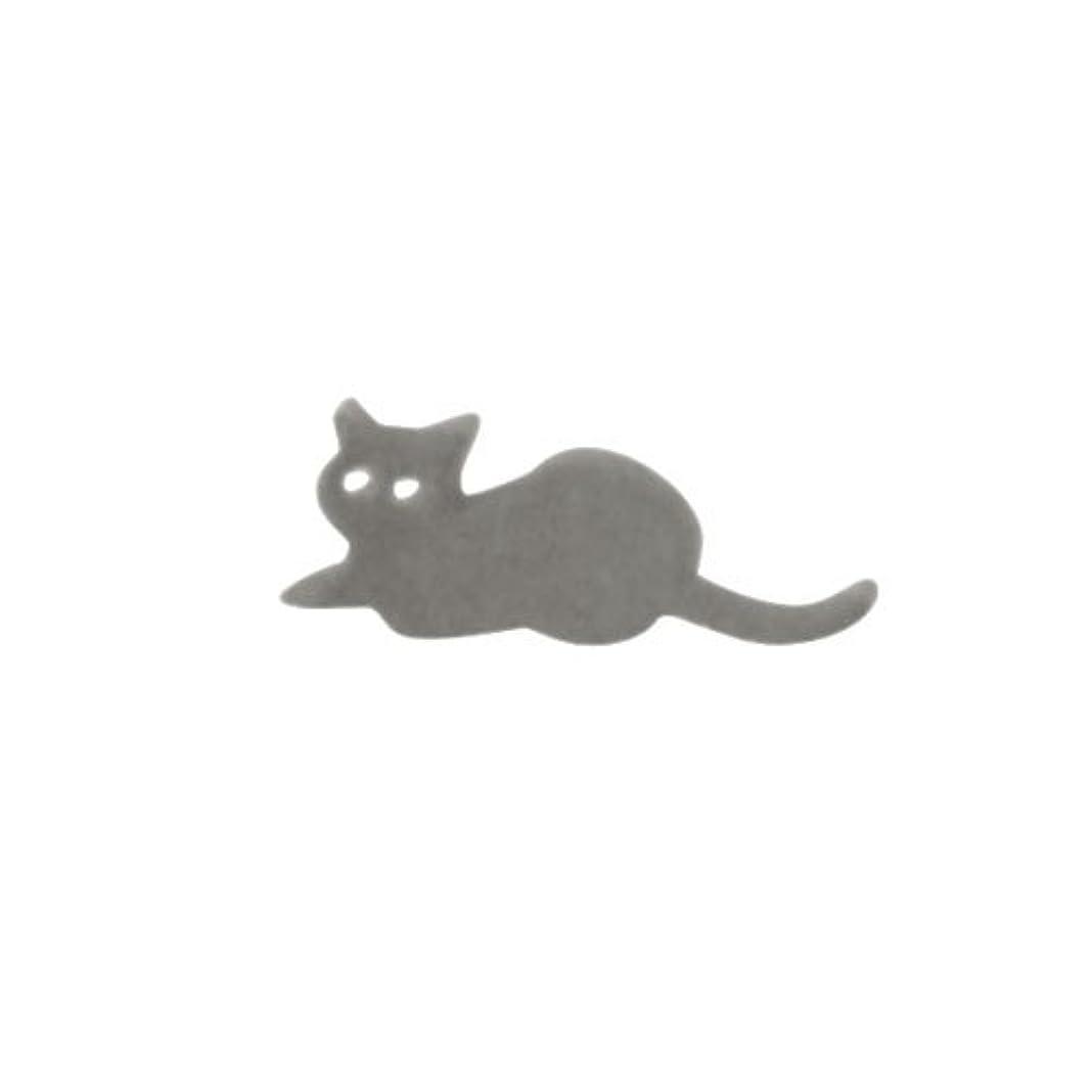 統合する任命するたるみリトルプリティー ネイルアートパーツ 猫5 シルバー 10個