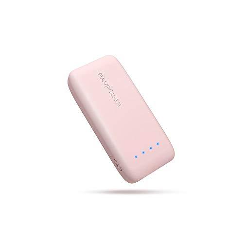 RAVPower 6700mAh モバイルバッテリー 急速充電 (最小 最軽量 /2019年8月時点) iPhone/Andorid 等対応 携帯充電器 ポータブル充電器 18ヶ月間安心保証 iSmart2.0機能搭載 PSE認証済み RP-PB060 (桜ピンク)