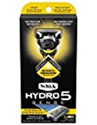 Schick Hydro5 Sense Energize 1 handle + 2 razor blade refills シックハイドロ5 センス?エナジー 本体1個+剃刀刃2個 [並行輸入品]
