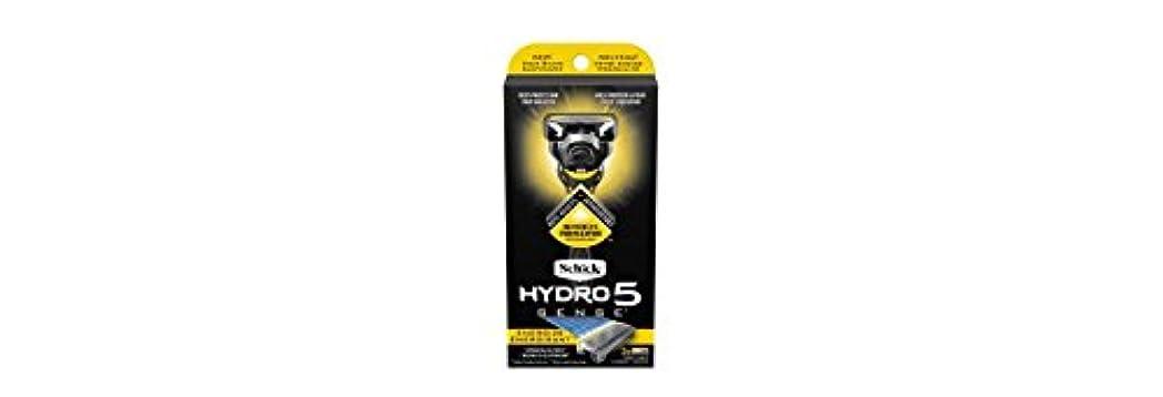 マットレス荒らすアジアSchick Hydro5 Sense Energize 1 handle + 2 razor blade refills シックハイドロ5 センス?エナジー 本体1個+剃刀刃2個 [並行輸入品]