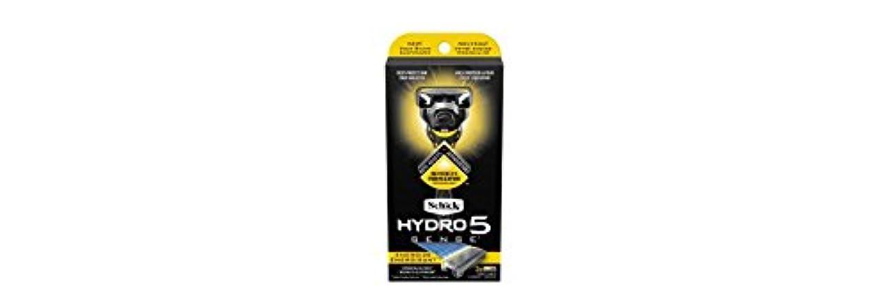 休憩並外れて永遠のSchick Hydro5 Sense Energize 1 handle + 2 razor blade refills シックハイドロ5 センス?エナジー 本体1個+剃刀刃2個 [並行輸入品]