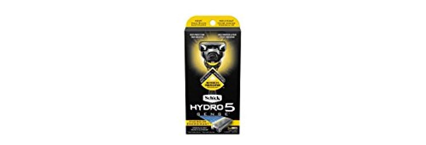 いたずらな準備するそこSchick Hydro5 Sense Energize 1 handle + 2 razor blade refills シックハイドロ5 センス?エナジー 本体1個+剃刀刃2個 [並行輸入品]