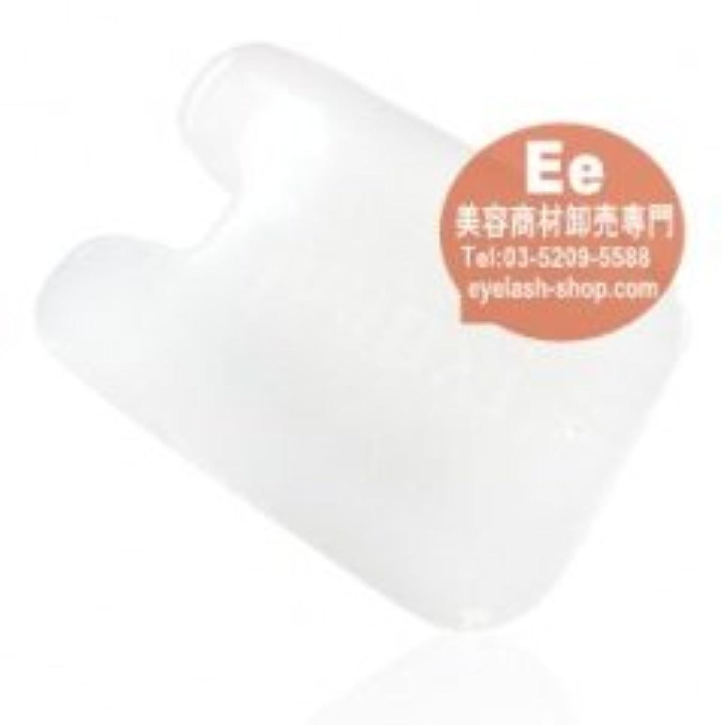 キャリッジ豊富な器用かっさ板 天然白玉ホワイトクォーツ美容カッサプレート GYB-2