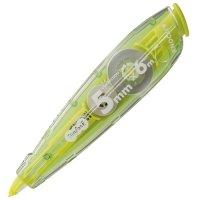ノック式修正テープ(使い切り) 5mm幅x6m グリーン 1個
