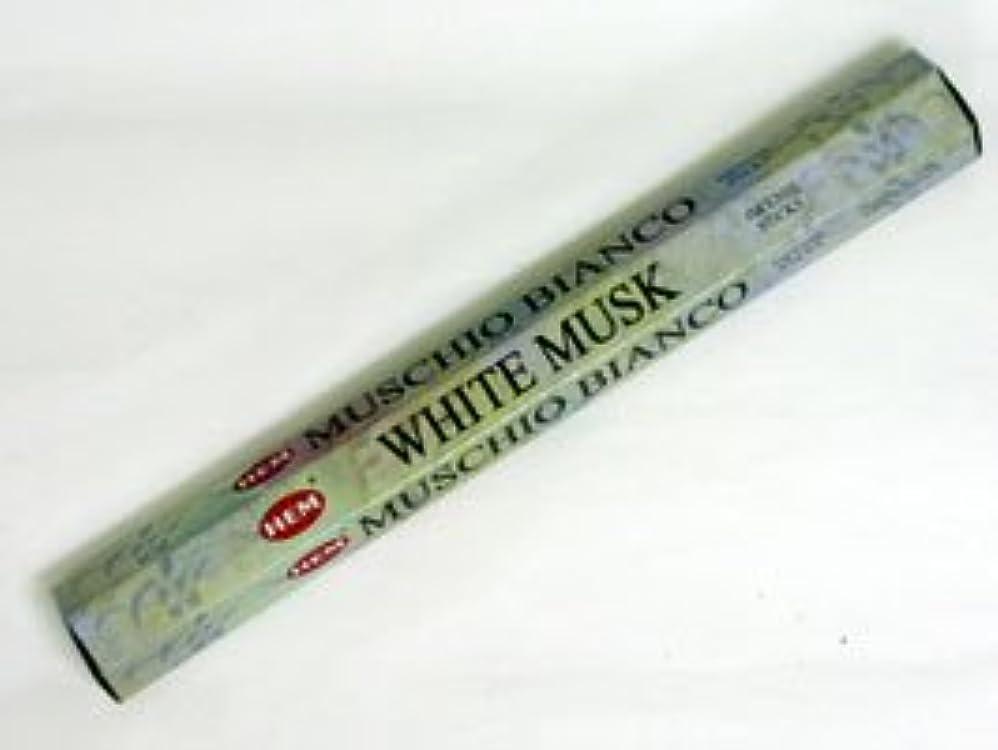 マット熟練したコンデンサーHEM 六角お香 6個入り ホワイトムスク