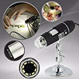 2MP 1000x 8LED USB 2.0デジタル顕微鏡内視鏡拡大鏡ズームカメラ+スタンド