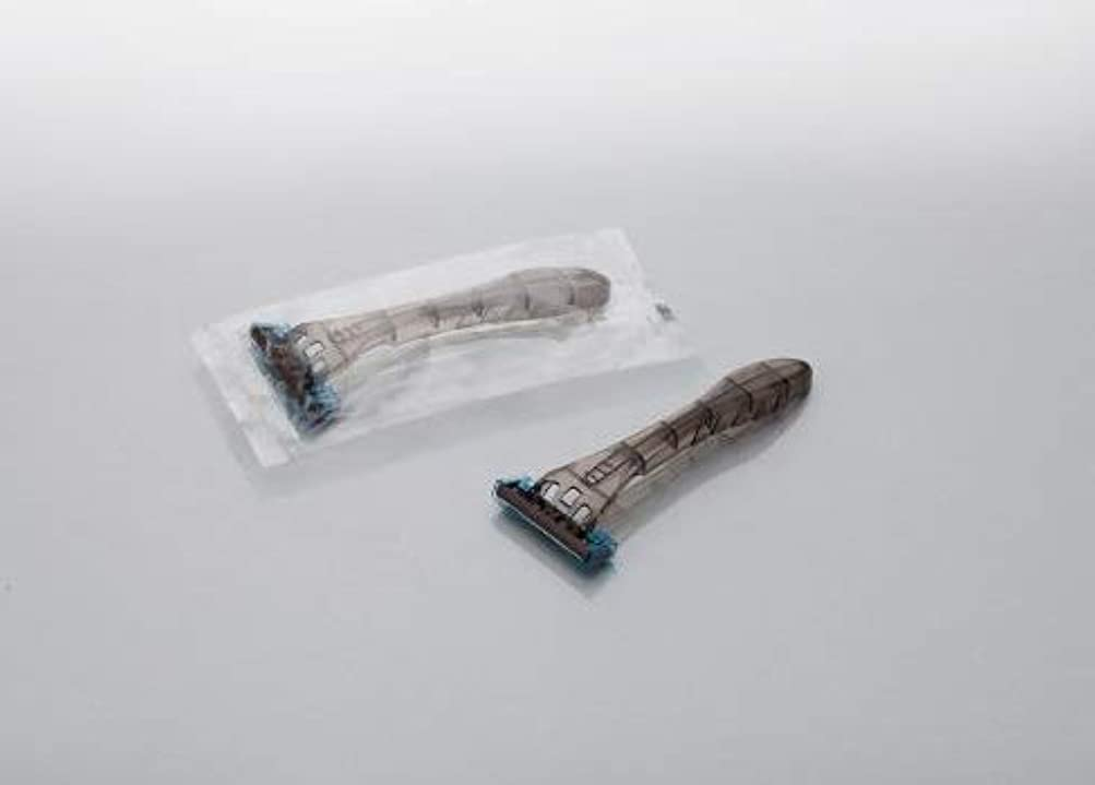 指令感嘆符入り口カミソリ アメニティ ファルコン 3枚刃首振りスムーサー付 1800本 透明OP袋入 daito
