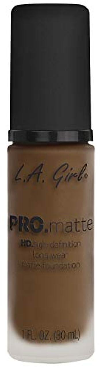 炭素添付スライスL.A. GIRL Pro Matte Foundation - Soft Sable (並行輸入品)