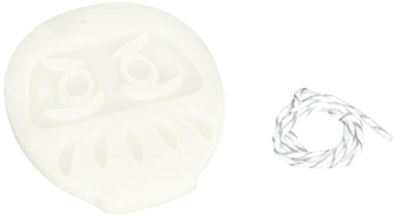 石鹸ジェスチャー発行するGRASSE TOKYO AROMATICWAXチャーム「だるま」(WH) スイートマジョラム アロマティックワックス グラーストウキョウ
