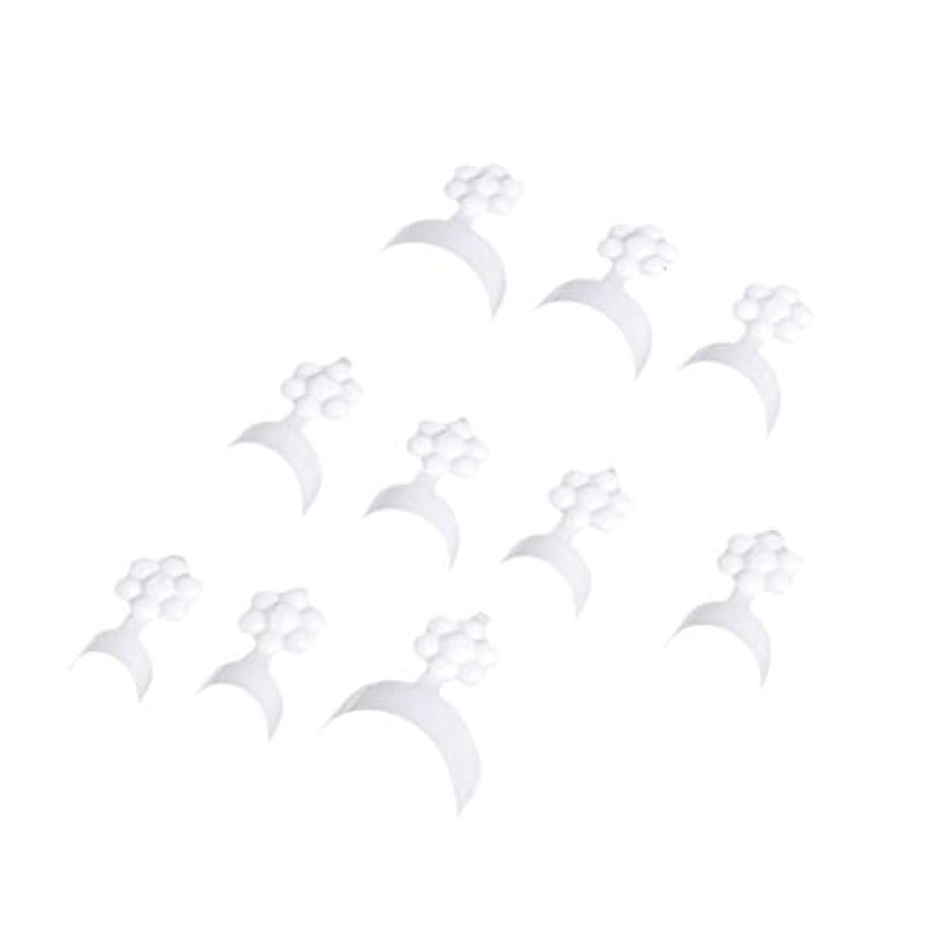 死走るアセンブリFrcolor 100ピース ネイルチップ フレンチショートスタイル クレセント人工偽ネイル 指ステッカーエクステンションツール ネイルアート用品