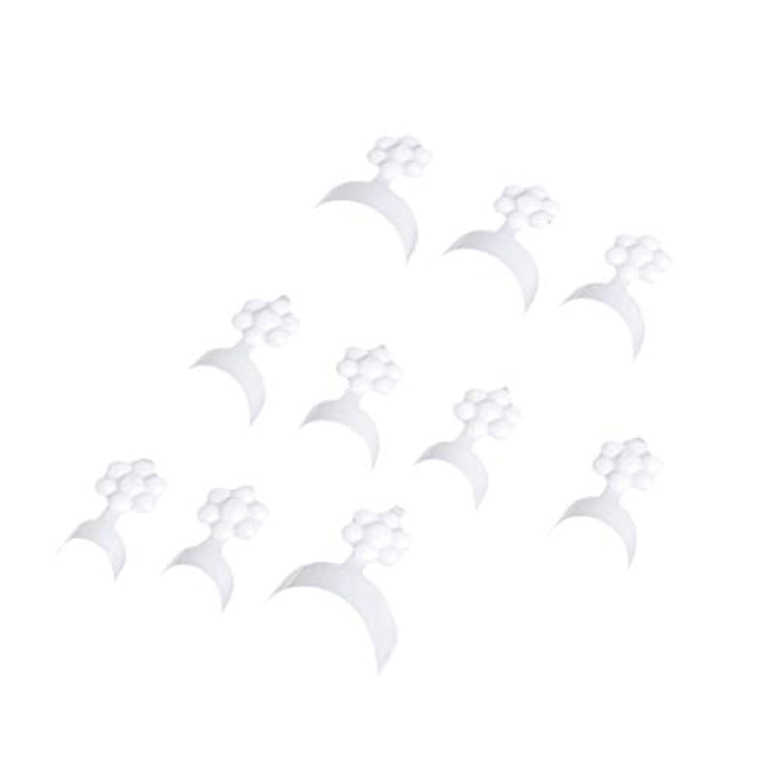 基本的なフレット良心的Frcolor 100ピース ネイルチップ フレンチショートスタイル クレセント人工偽ネイル 指ステッカーエクステンションツール ネイルアート用品