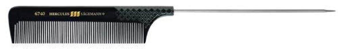 Hercules sagemann Fine Metal Pin Tail Hair Comb, Length-23.5 cm [並行輸入品]