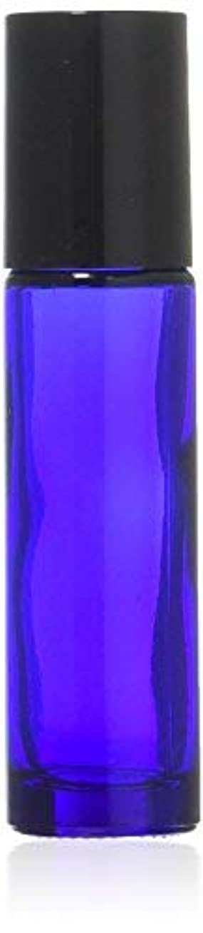 妥協失礼ラベルTrue Aroma, 24 pcs, 10ml Cobalt Blue Glass Roller Bottles with Stainless Steel Roller Ball for Essential Oil -...