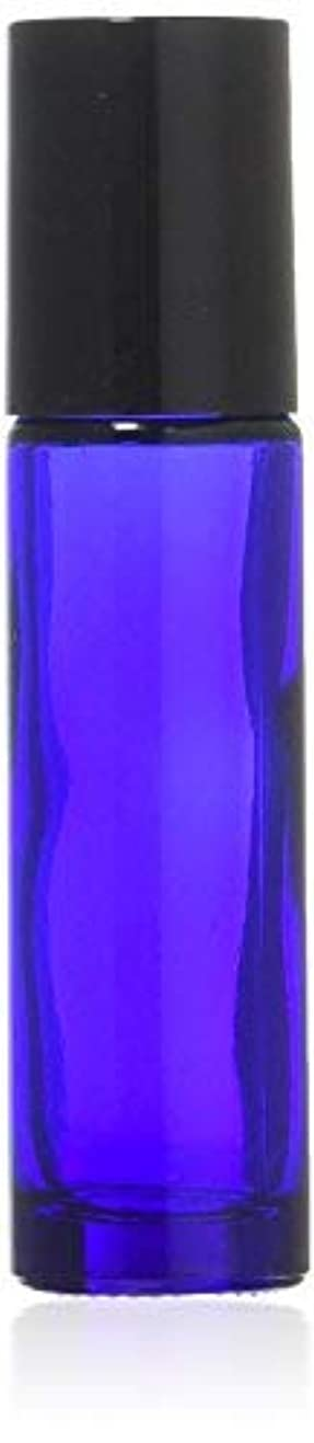 True Aroma, 24 pcs, 10ml Cobalt Blue Glass Roller Bottles with Stainless Steel Roller Ball for Essential Oil -...