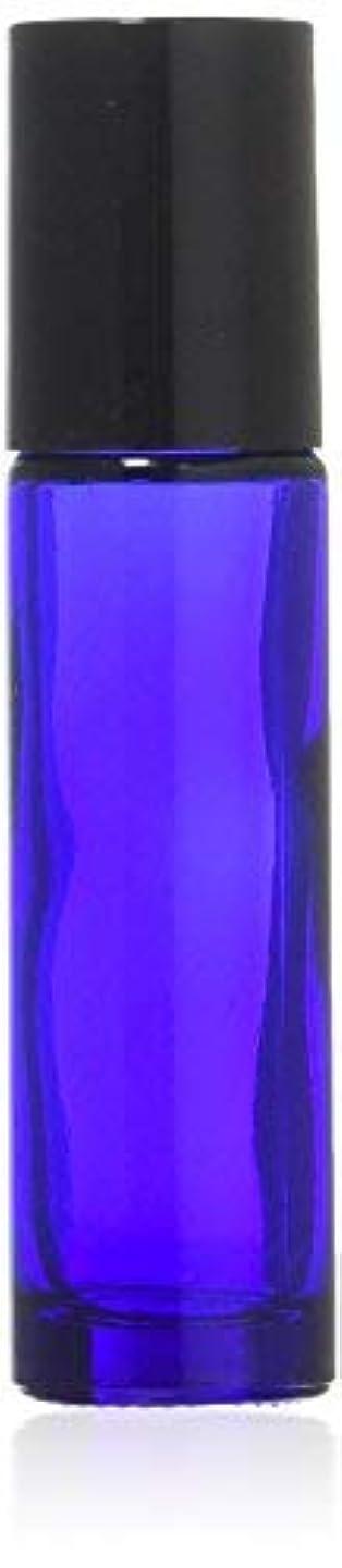 お金ゴム私ハンカチTrue Aroma, 24 pcs, 10ml Cobalt Blue Glass Roller Bottles with Stainless Steel Roller Ball for Essential Oil -...