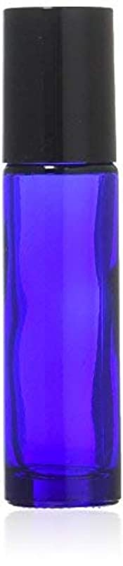 札入れ廊下リーダーシップTrue Aroma, 24 pcs, 10ml Cobalt Blue Glass Roller Bottles with Stainless Steel Roller Ball for Essential Oil -...