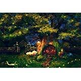csfoto 5x 91センチ背景for Wonderful Land家内側ツリー写真バックドロップファンタジーフォレストGlowworm Enchanted Garden Mushroom Night Fairy Tale Studio小道具子Kid Portraitビニール壁紙