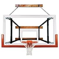最初チームfoldamount82 Victory steel-glass Side Folding壁マウントバスケットボールsystem44 ;スカーレット