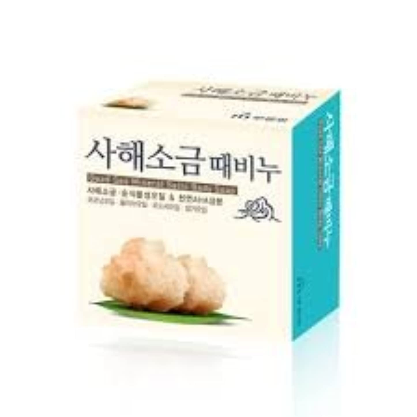 左怪物短くするムグンファ[MUKUNGHWA] 死海 塩 垢石鹸 100g/ Dead Sea Mineral Salts Body Soap