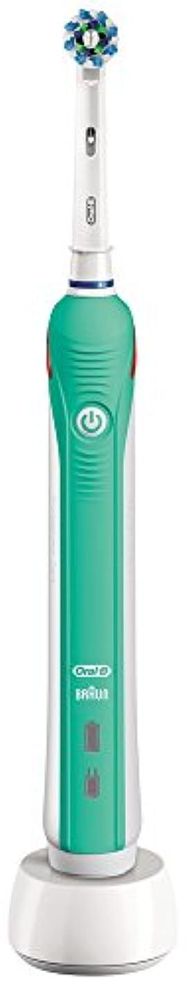キャプテン平行熟すブラウン オーラルB 電動歯ブラシ PRO 1000 D205132M GR グリーン