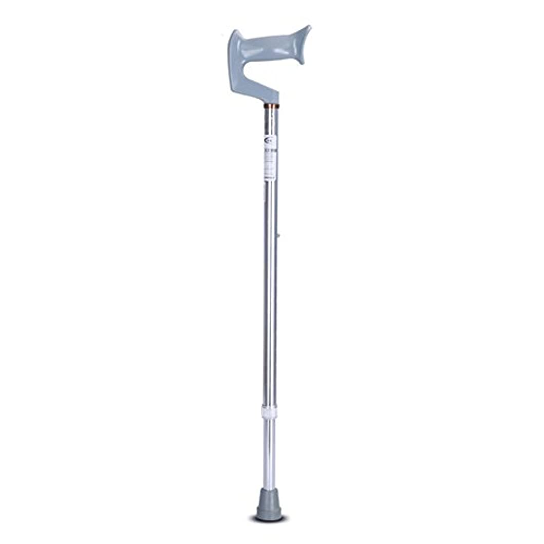 慰め虎真実高齢者障害の歩行スティックノンスリップ高さ調節可能な脇の下用ウォーカー,Silver