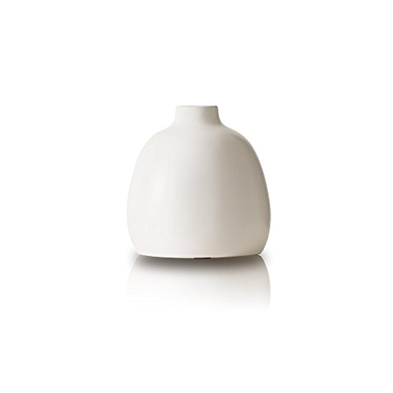 機転阻害する戻るOnlili 陶器 アロマディフューザー ホワイト