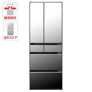 日立 567L 6ドア冷蔵庫(クリスタルミラー)HITACHI KXシリーズ R-KX57K-X