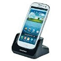 Monoprice CaseDuo Charge and Sync Dock with Battery Cradle for Samsung Galaxy SIII - Retail Packaging - Black [並行輸入品]