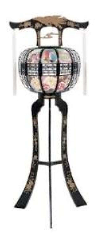 霊前灯 へいせい 黒 1台 高さ約124cm 廻転筒付 日本製 行灯 盆提灯 八女提灯