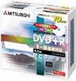 三菱化学メディア DVD+R 4.7GB 8倍速対応 10枚 インジェットプリンター対応 [DTR47HP10]