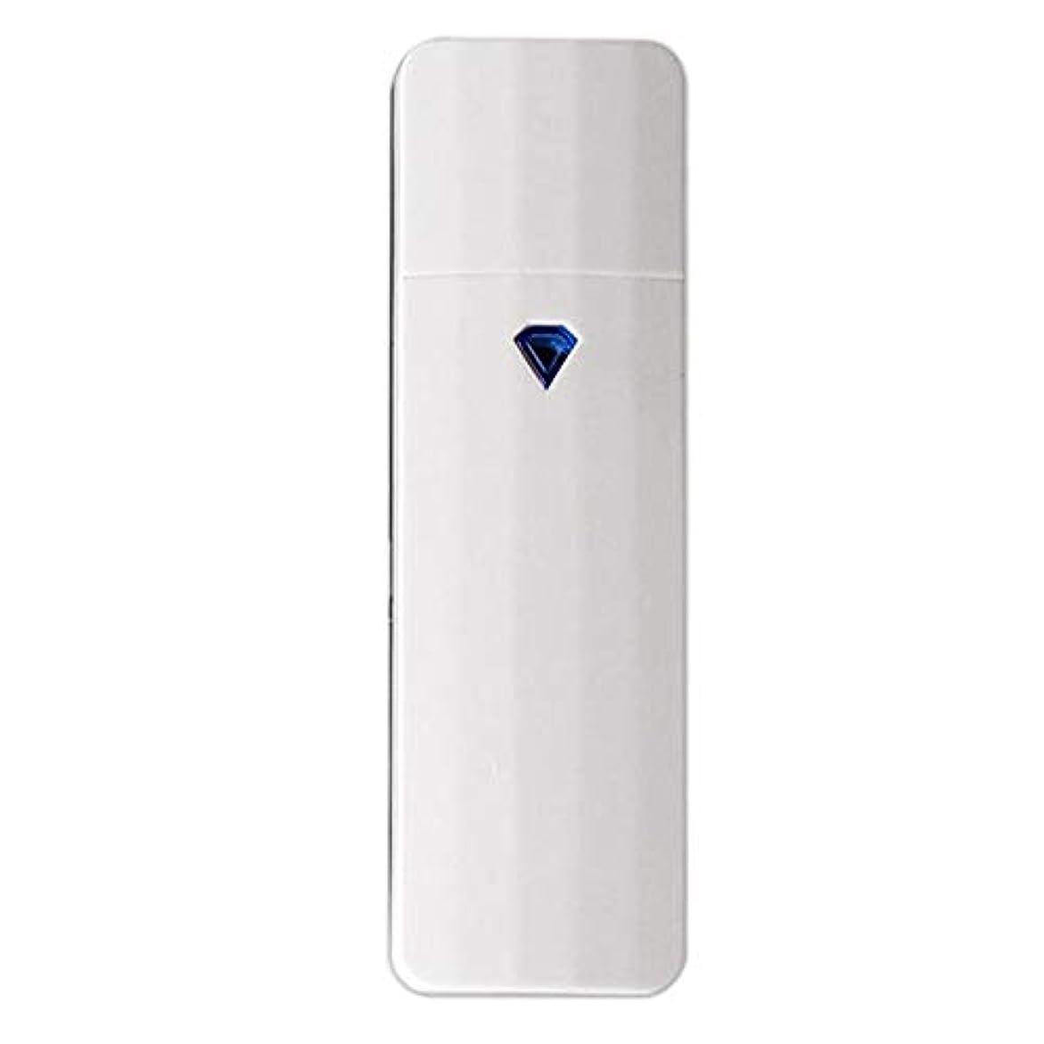 費やすアッティカス尊敬CUHAWUDBA 携帯用ナノ?スプレー、噴霧、便利なフェイシャル?スチーマー、噴霧器、Usb充電式面部保湿水和スプレー装置、美容器具(白色)