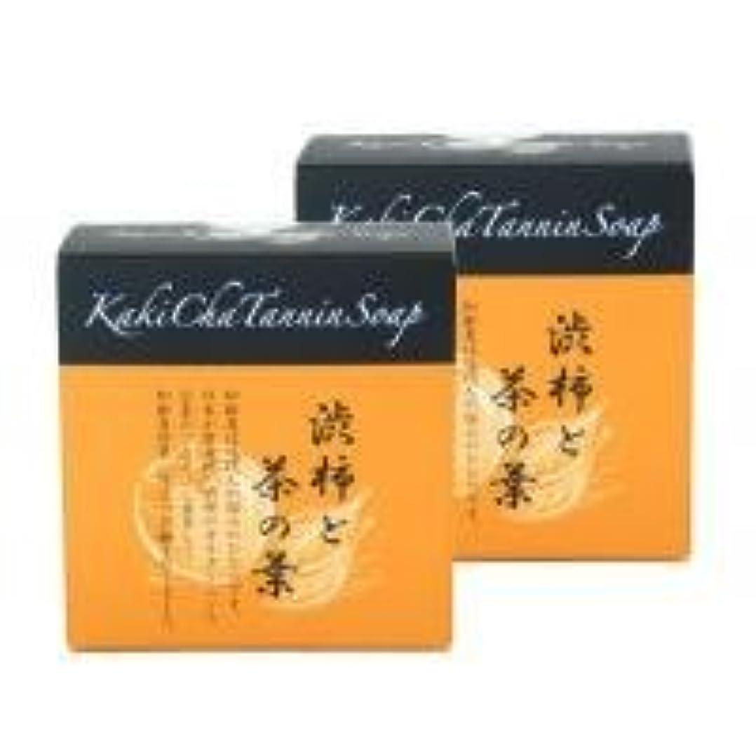 後方にテキストルビー柿茶タンニンソープ(100g)×2個 K00024W