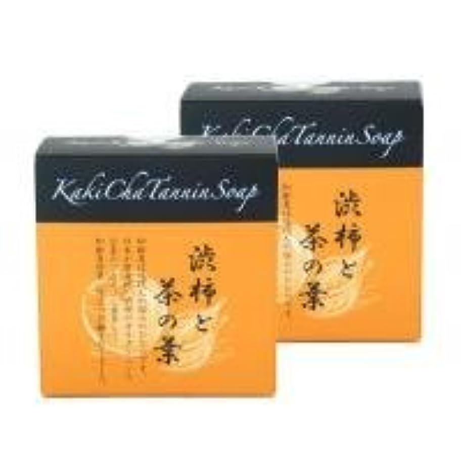 ストレスの多い調子人気の柿茶タンニンソープ(100g)×2個 K00024W