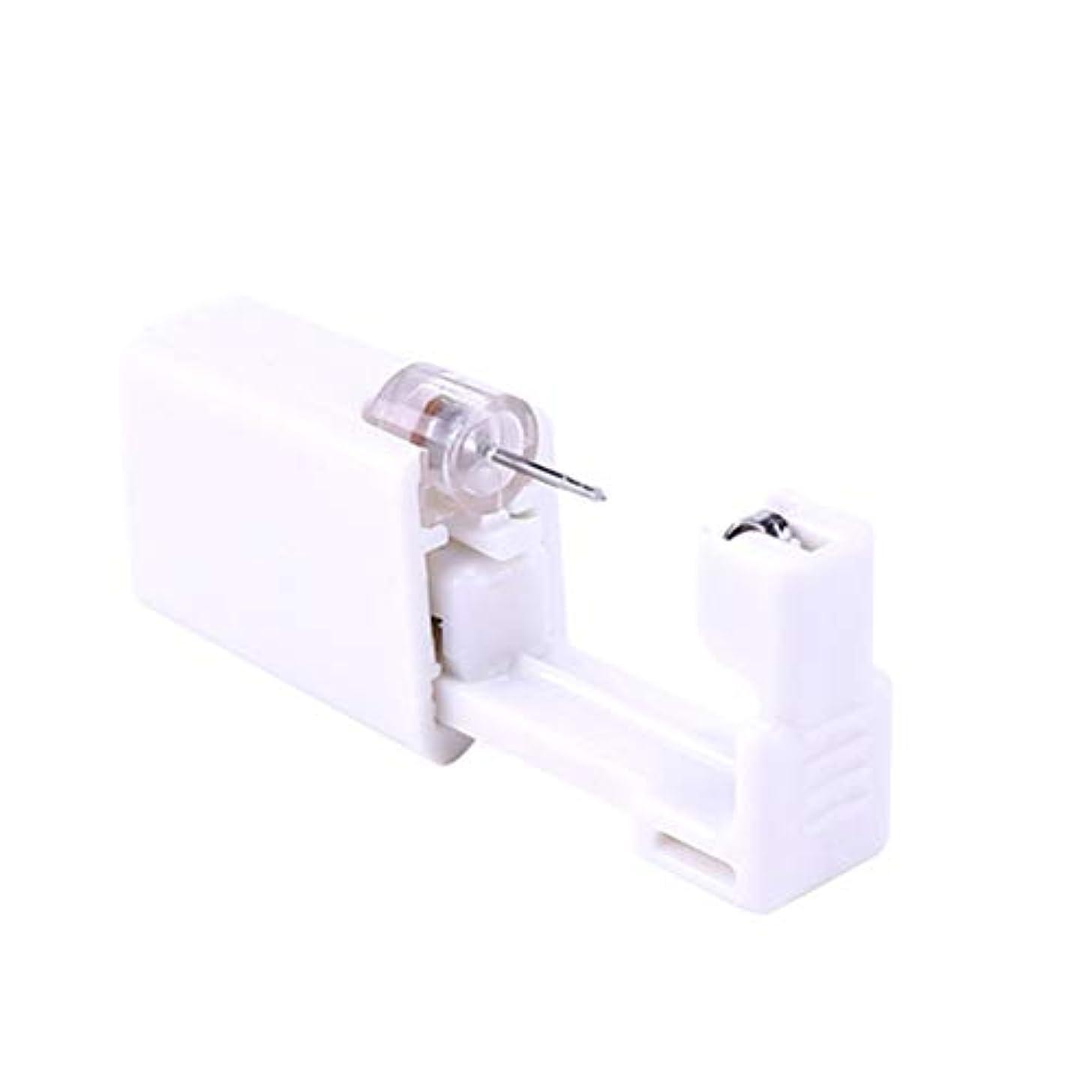 エンディングアレンジ気づくなるSUPVOX 2本使い捨て耳ピアスガンボディピアスガンピアスツールピアスデバイス(ホワイト)