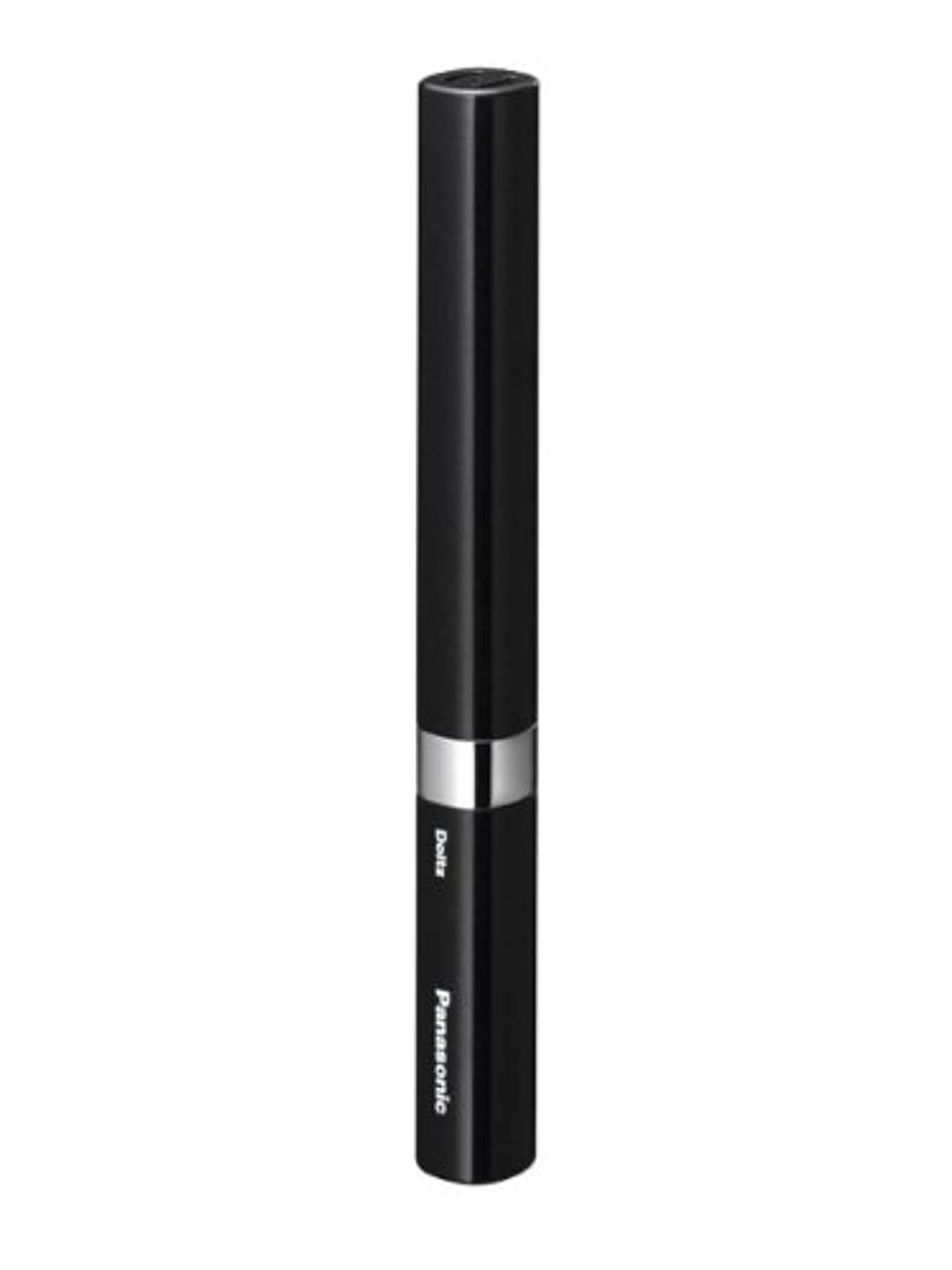 大量変位粘着性パナソニック 音波振動ハブラシ ポケットドルツ 黒 EW-DS14-K