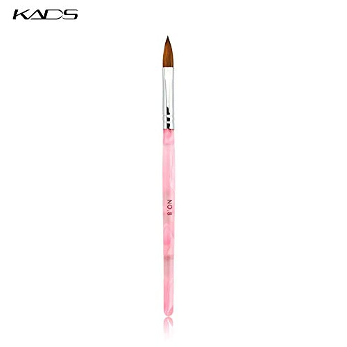 拡大する太字KADS アクリル用ネイル筆/ブラシ 1本 8# コリンスキー筆 ネイルアートペンネイルアートツール (8#)