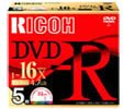 DM16RD-WW5CW (DVD-R 16倍速 5枚組)