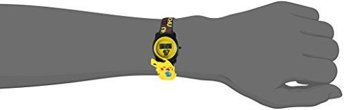 ポケモンクオーツプラスチック製カジュアル腕時計 カラー:ブラック(モデル:POK3085)