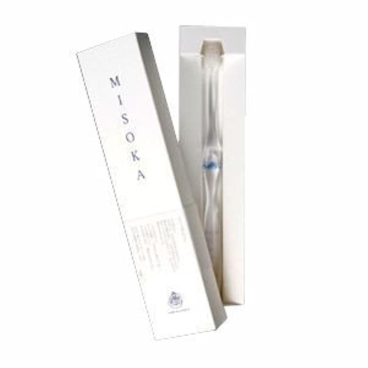 ネックレット提供されたブラウズmisoka  ミソカ歯ブラシ (藍色) 水でツルツルになるナノテク歯ブラシ
