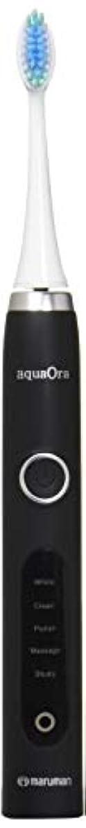 スモッグ幅処分したマルマン aquaOra(アクアオーラ) 音波振動歯ブラシ ブラック?AQ001BK